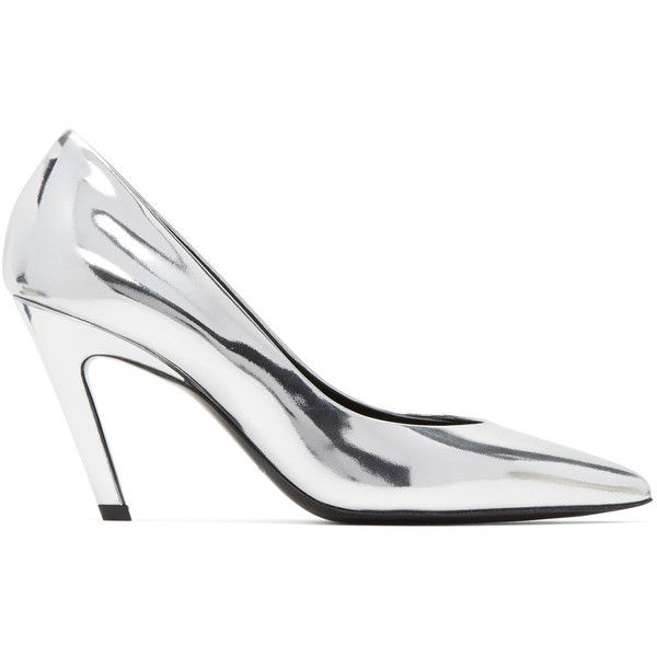 f981067a705 Balenciaga Silver Classic Broken Mirror Heels (17 935 UAH) ❤ liked on  Polyvore featuring