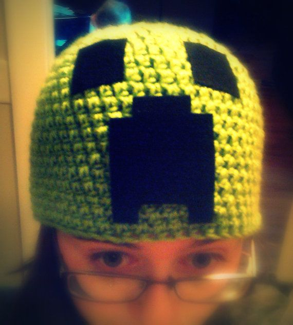 crochet #minecraft creeper beanie | kids crochet patterns | Pinterest
