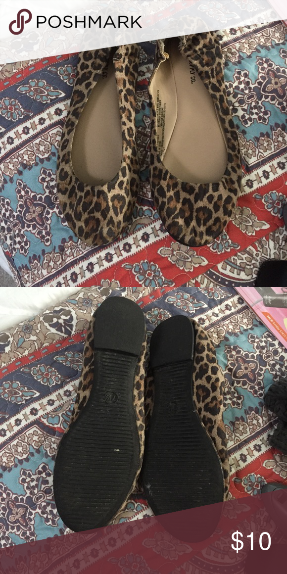 Target cheetah flats Super cute target cheetah flats. Super comfy ( no blisters!) and only worn a couple of times! Mossimo Supply Co Shoes Flats & Loafers