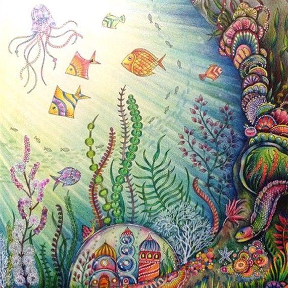 johanna basford  lost ocean  sete mares  océano perdido