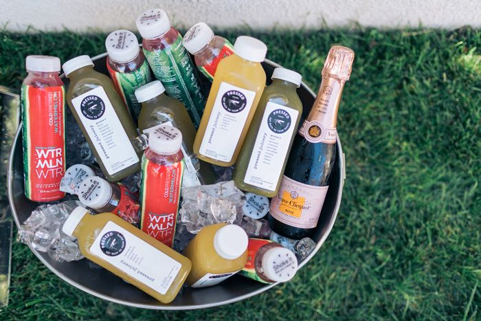 Pressed Juicery, Watermelon Water and Verve Clicquot at a baby shower - The Style Editrix