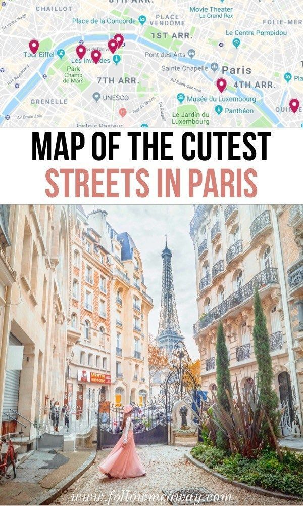 10 Of The Most Charming Streets In Paris + Map To Find Them #foodtips