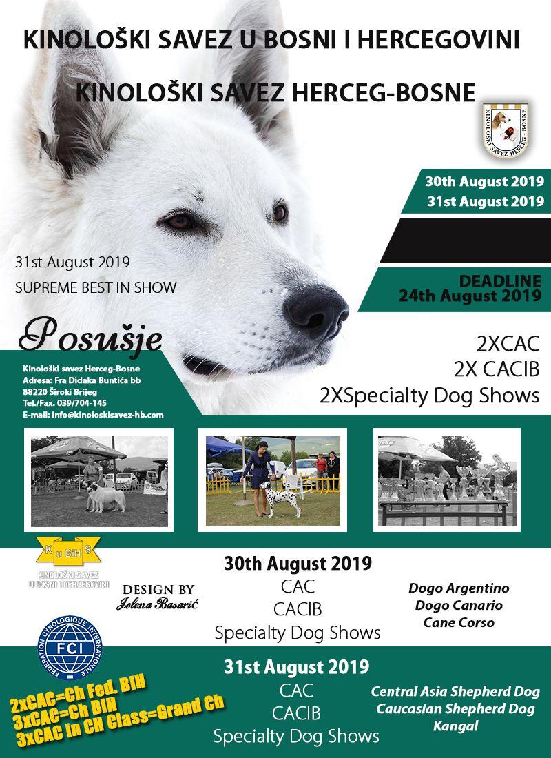 International National Specialty Dog Shows Posusje 2019