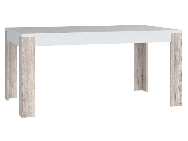 Table avec allonge 160 cm wave coloris ch ne san remo for Table rectangulaire 160 cm avec rallonge