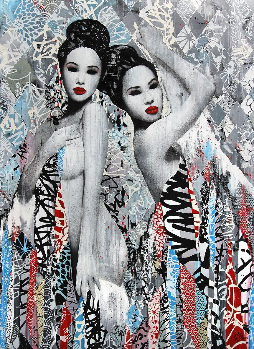 Hush Shows Us What East Meets West Looks Like, Street Art Style   artFido's …