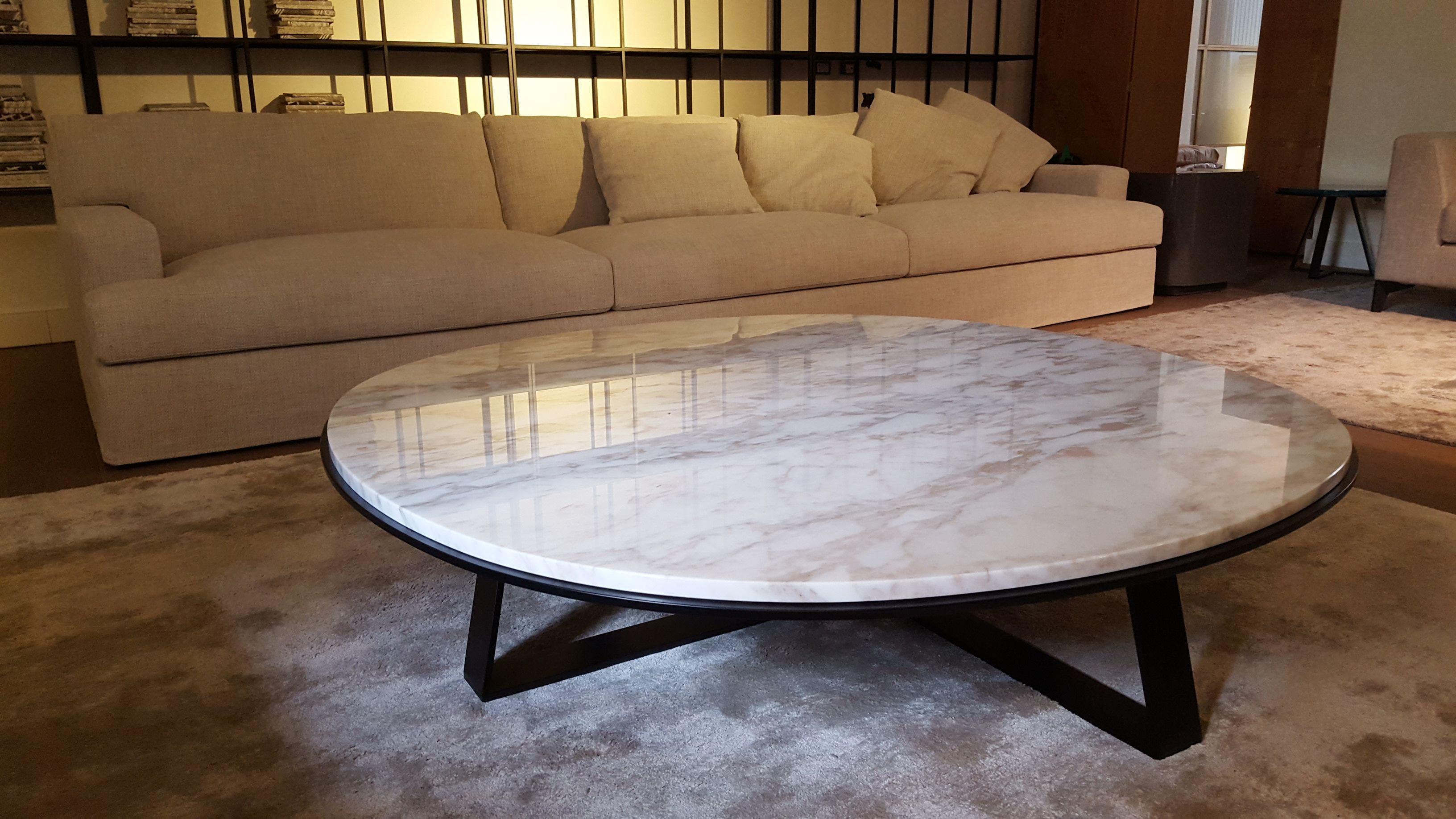 James modular sofa and Shine Judd low table calacatta