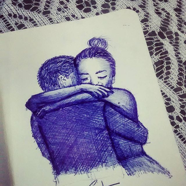 Simplesmente abrace. . Dia 170... #desenhosdoalti #desenhos #sketch #sketchers #sketchbook #art #artlovers #artbrazil #artworks #instaart #instartist #illustration #UmDesenhoPorDia #Weekend #dibujo #draw #drawing #iLike #pen #instalove #love #abraços #Sentimentosbons
