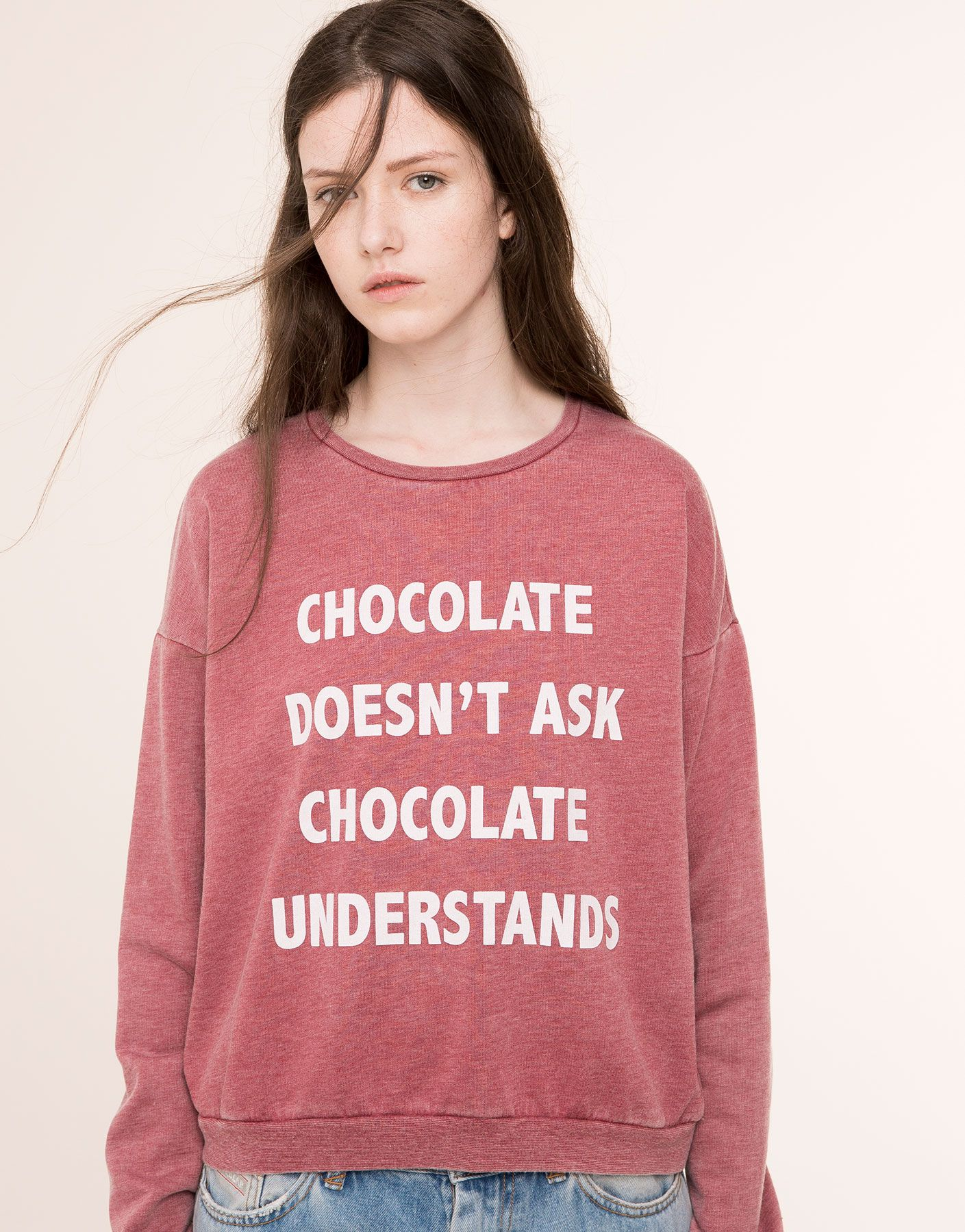 CHOCOLATE' SWEATSHIRT - NEW PRODUCTS - NEW PRODUCTS - PULL&BEAR Russian Federation