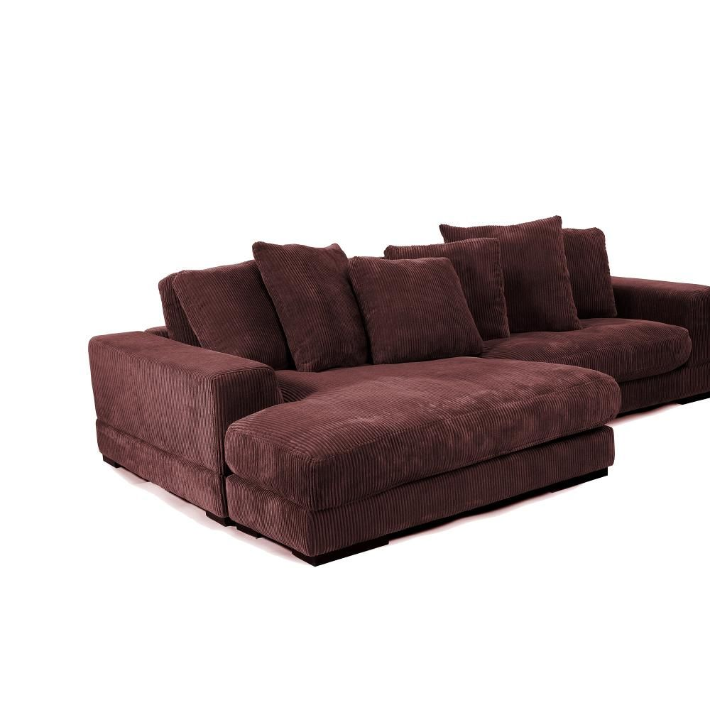 Brown Corduroy Couch | Cozy cottage | Charcoal sectional, Modular ...