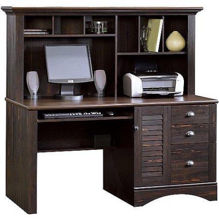 sauder harbor view computer desk with hutch antiqued paint rh pinterest ca small computer desks at walmart