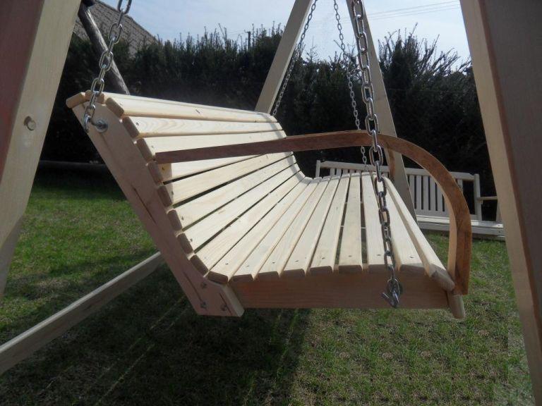 Details zu Hollywoodschaukel aus Holz Gartenmöbel Gartenbank NEU