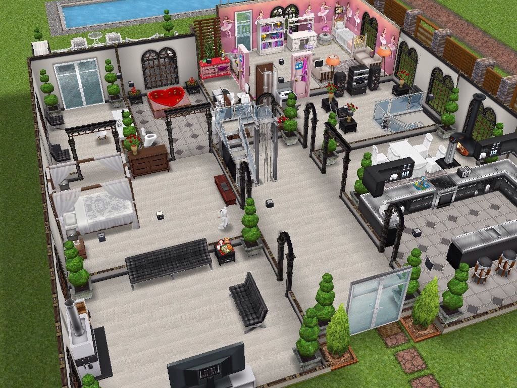 House 20 (re-design) ground level #sims #simsfreeplay ...