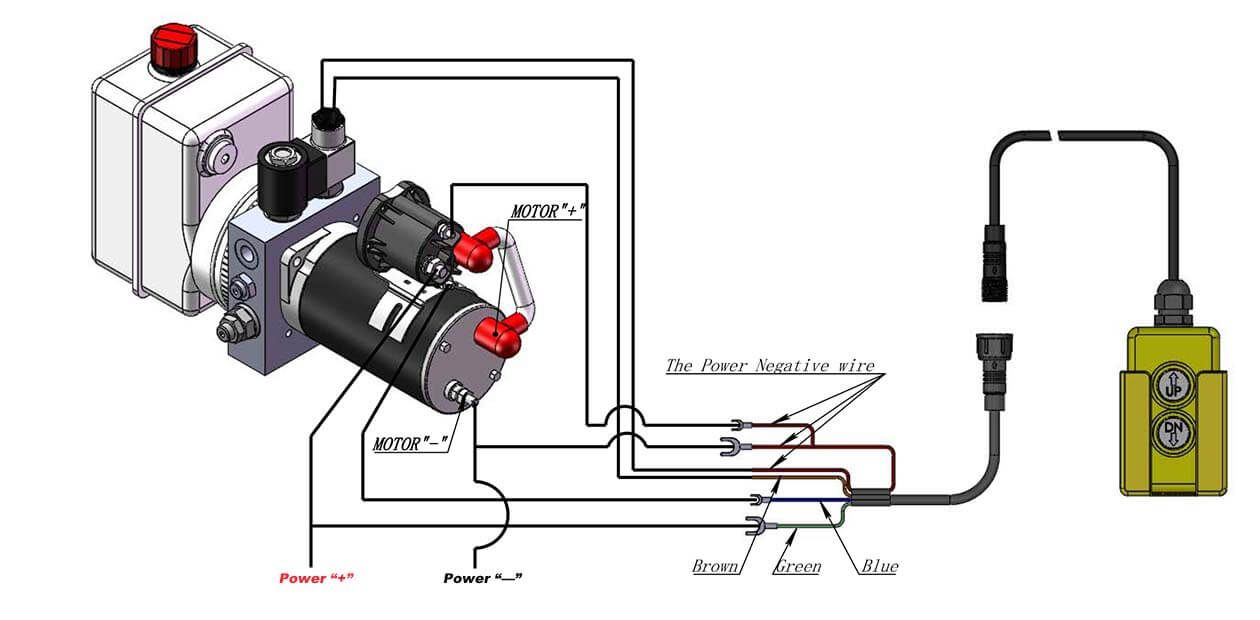 How To Wire Hydraulic Power Pack Power Unit Diagram Design Power Pack Hydraulic Power Unit