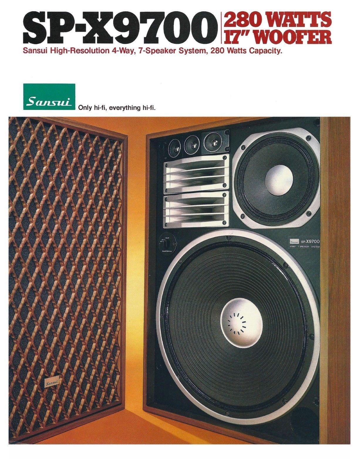 Sansui Vintage Speakers Best Hifi Speakers Vintage Electronics