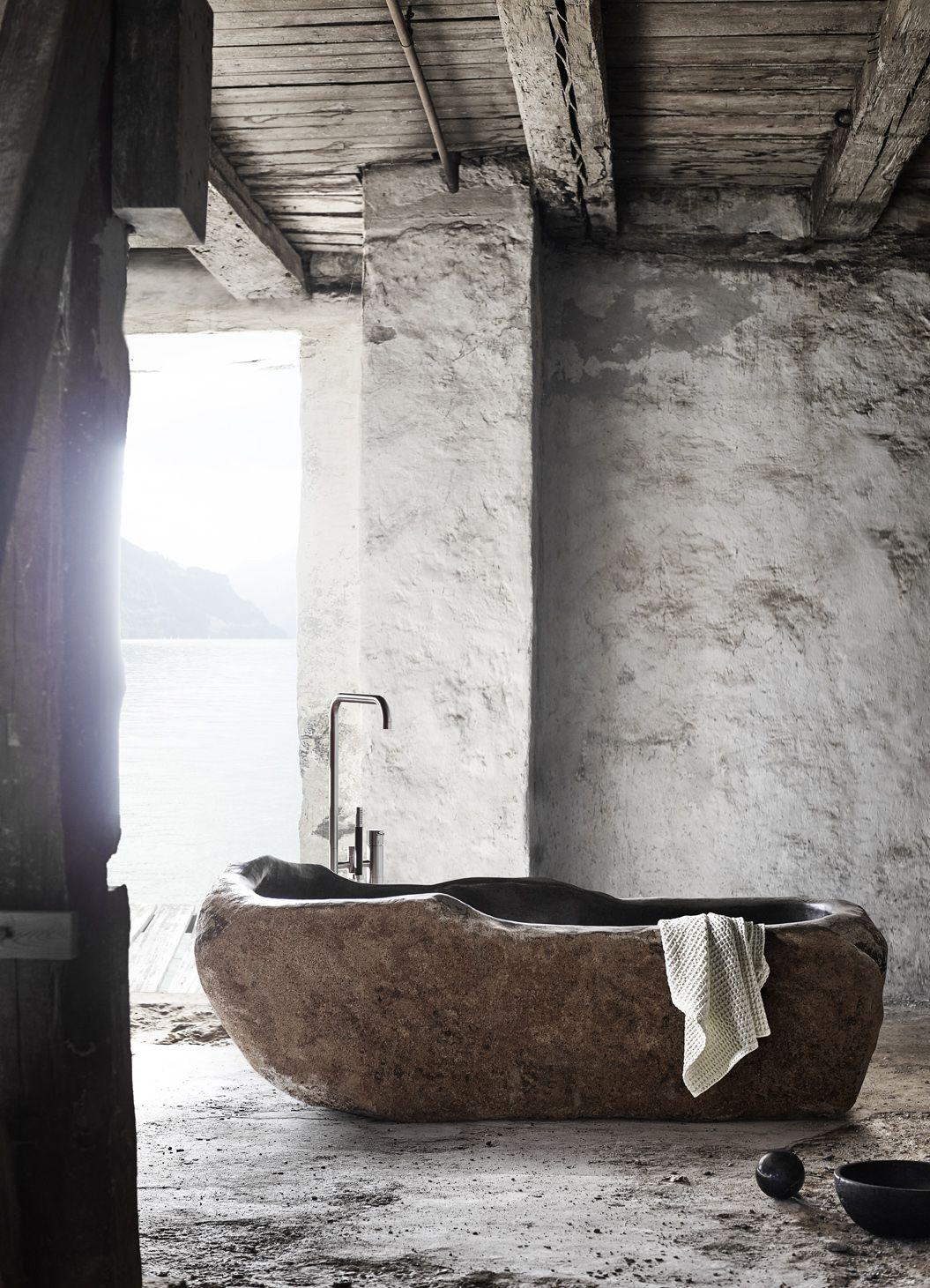 Tags rustic bathroom natural minimal monochrome - Home Decor Wabi Sabi Stone Bathroomrustic