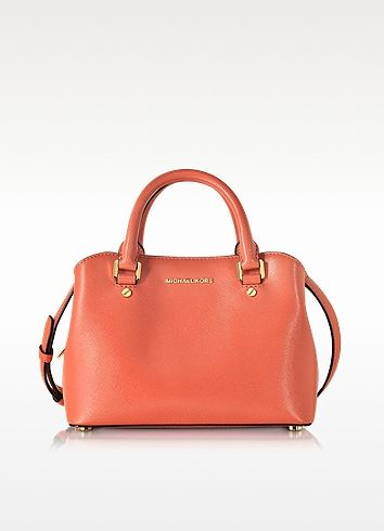 db734adf1075 MICHAEL KORS Savannah Pink Grapefruit Saffiano Leather Small Satchel. # michaelkors #bags #shoulder bags #hand bags #leather #satchel #lining #