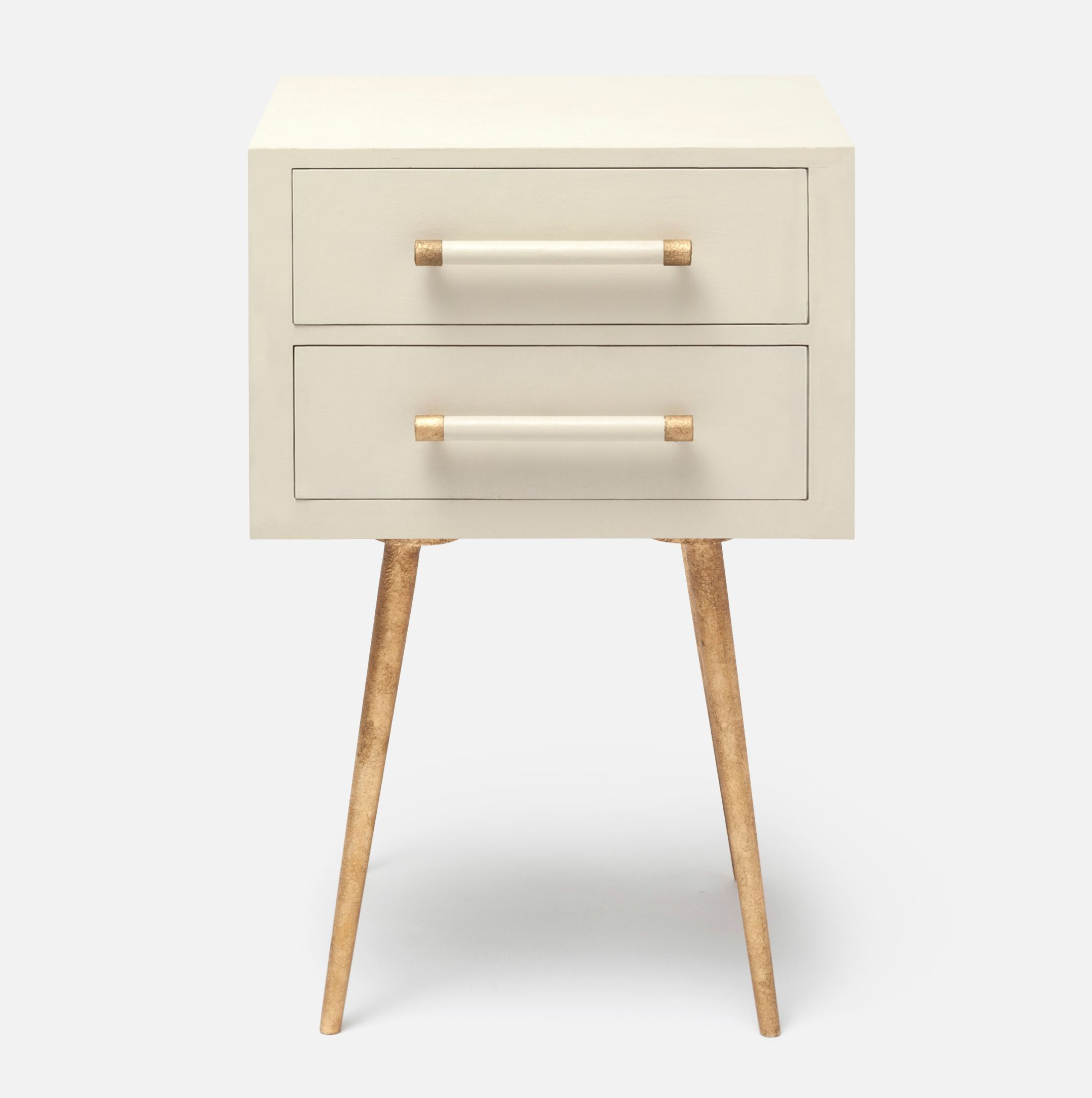 Small Claudette Linen Side Table   office   Nightstand, Side ...