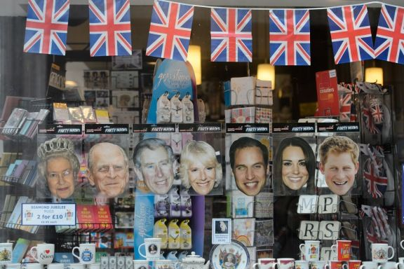 Royal Jubilee Souvenirs are sometimes fun such as paper masks of Queen Elizabeth, Prince Philip Prince Charles, Camilla, Duchess of Cornwall, Prince William, Catherine, Ducess of Cambridge and Prince Harry