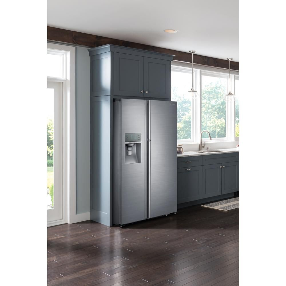 Samsung 28 5 Cu Ft Side By Side Refrigerator In Stainless Steel Food Sh Side By Side Refrigerator French Door Refrigerator Interior Design Chicago