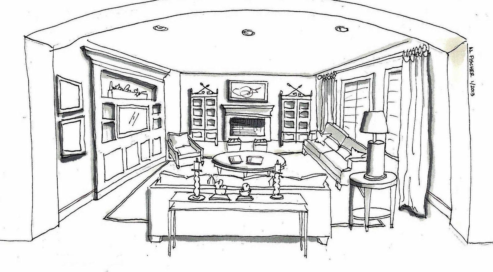 The Most Beautiful Living Room Architecture Sketch Freshouz Com Interior Design Sketch Interior Design Sketches Design Sketch