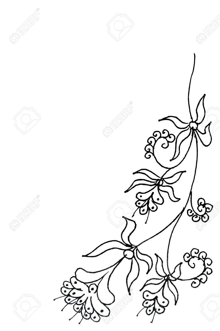 Simple Floral Batik Design Pattern In Black And White Aff Batik Floral Simple Design White Desain