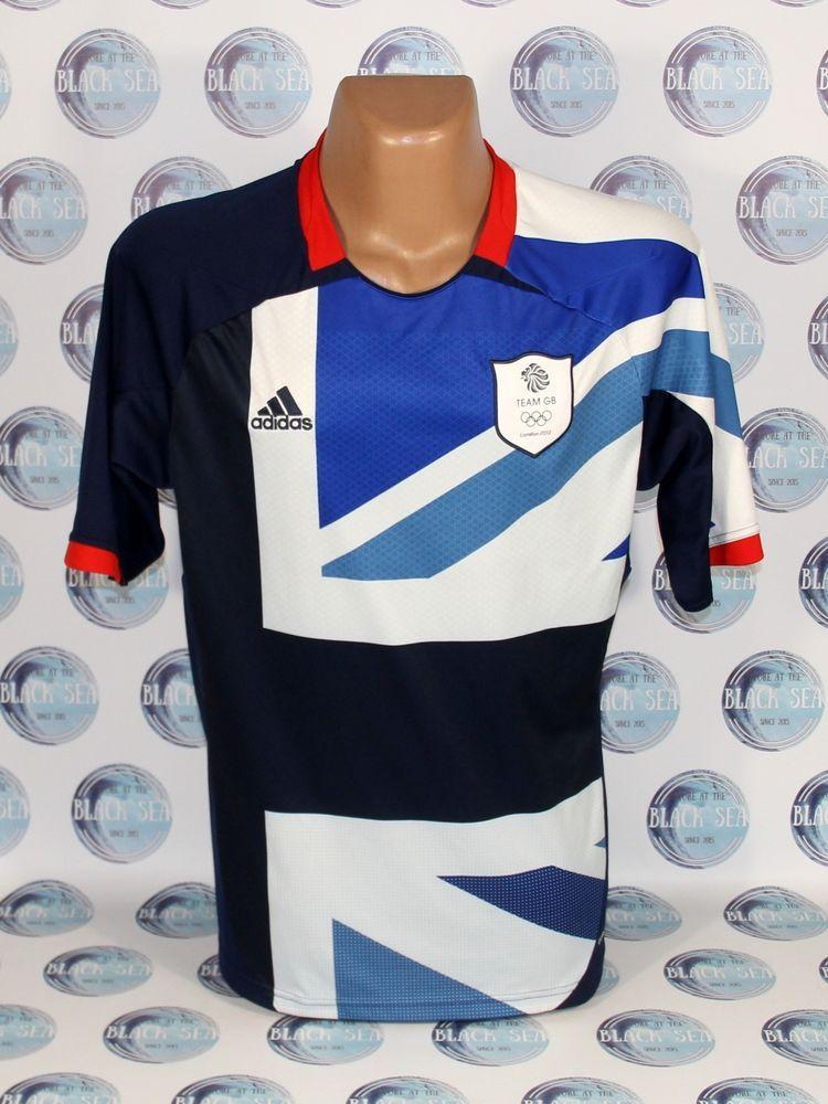 c4408e6910c GREAT BRITAIN OLYMPIC GAMES LONDON 2012 FOOTBALL SOCCER SHIRT JERSEY ADIDAS  L  adidas  England