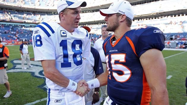 Pin By Wfla News On Sports Tim Tebow Peyton Manning Manning