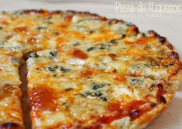 Pizza De 4 Quesos Cheese Pizzas Caseras Receta Recetas De