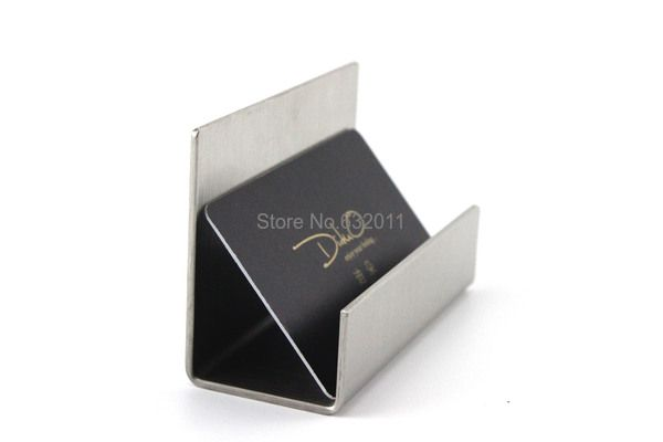 Modern Stainless Steel Business Card Holder Name Card Holders Note Holder Display Stand Satin Fini Business Card Holders Name Card Holder Modern Business Cards