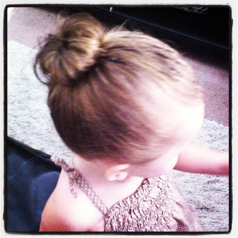 Baby girl hair style Mini sock bun style