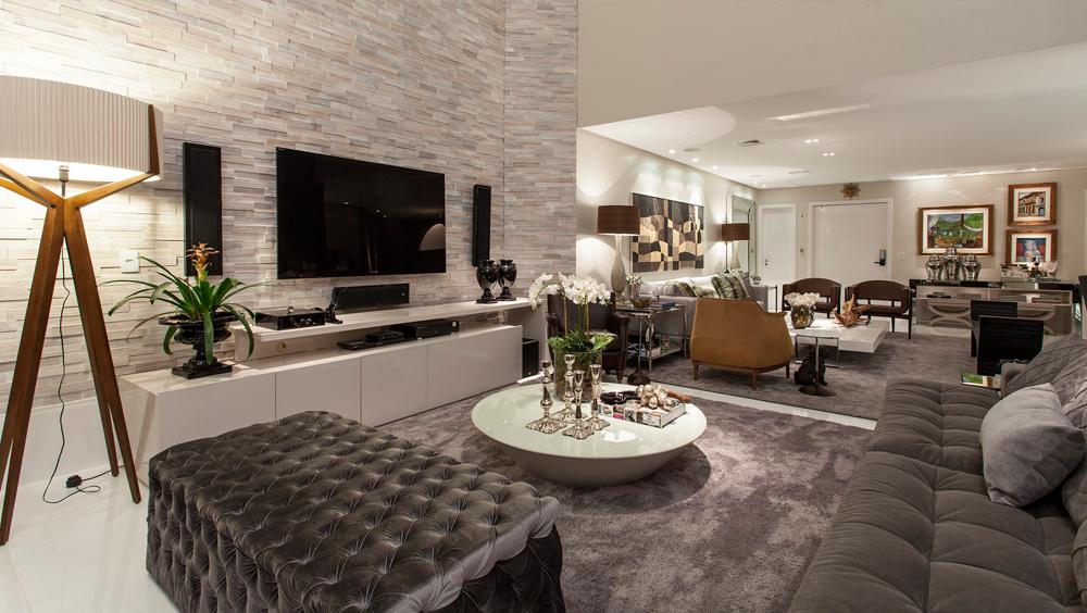 Apartamento com decora o contempor nea e cl ssica e salas Casa clasica moderna