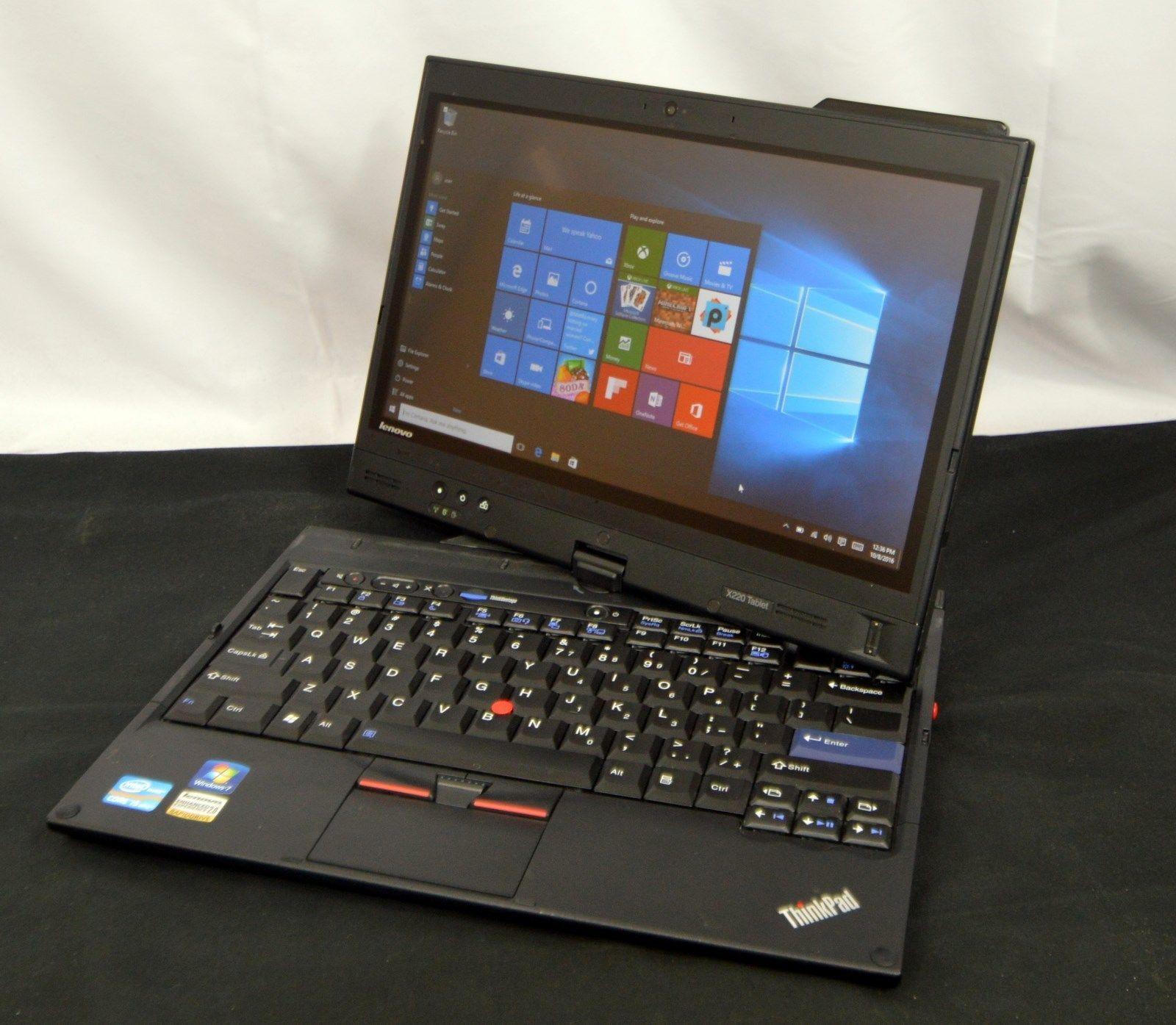 Ibm Lenovo Thinkpad X220 Multitouch Tablet Pen Pc 4gb 160gb Ssd