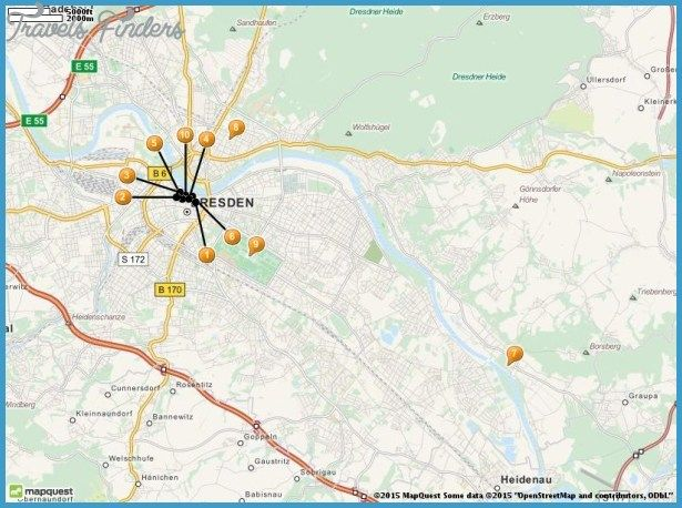 Dresden Map Tourist Attractions httptravelsfinderscomdresden