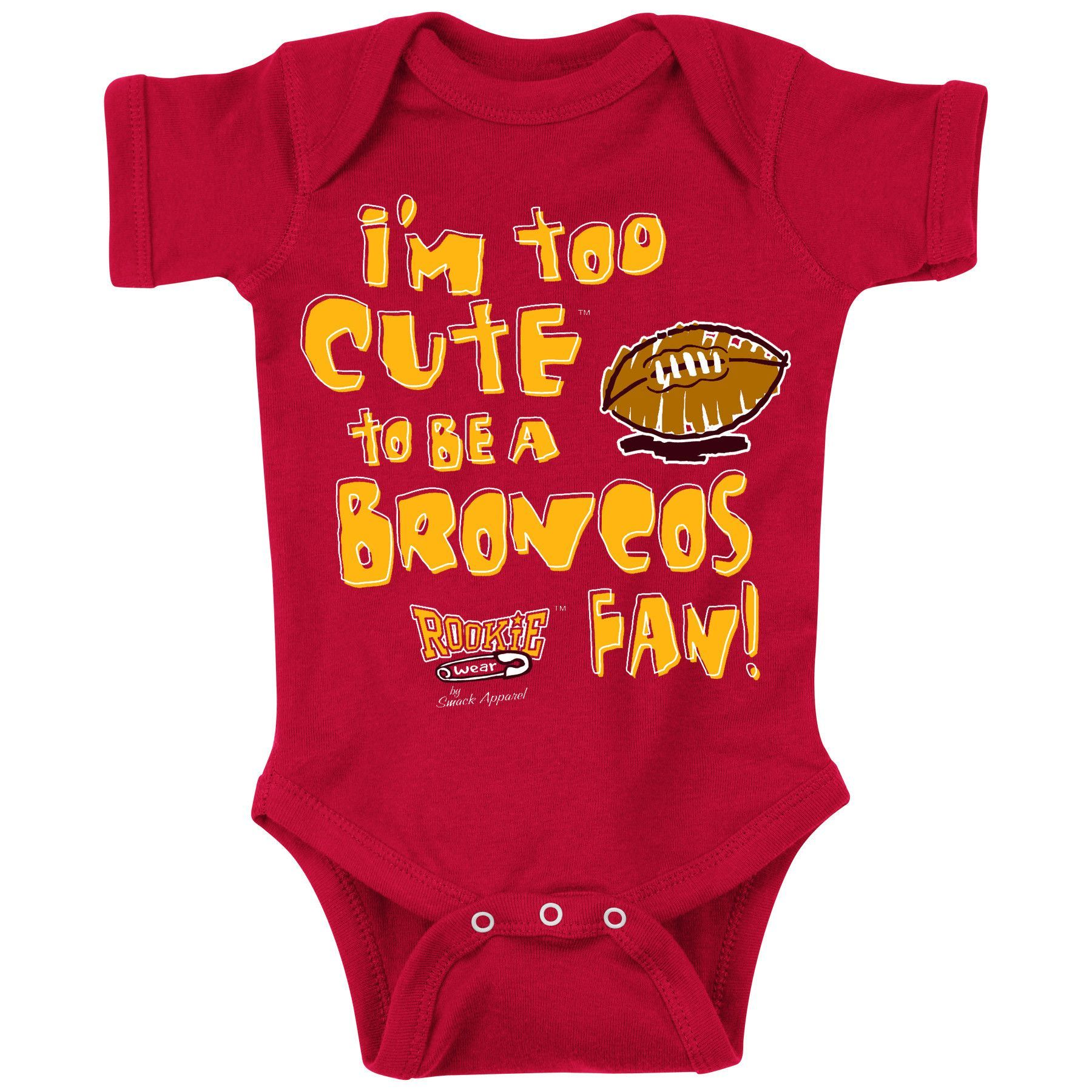 Kansas City Chiefs Fans Too Cute Anti Denver esie NB 18M