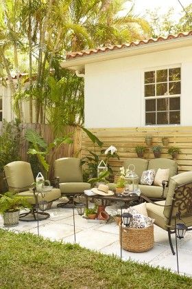 Outdoor Accessories Create A Green Natural Patio Look