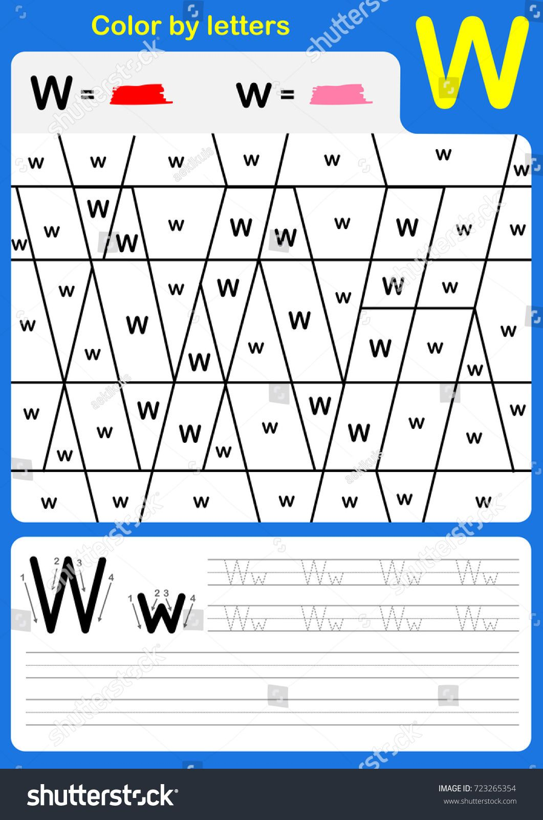 Color By Letter Alphabet Worksheet Color And Writing A Z