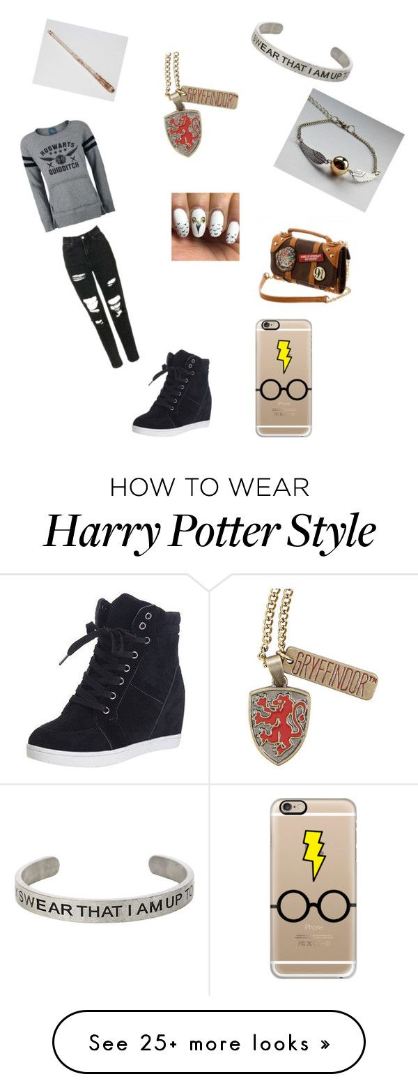 """Harry Potter outfit"" by maddiehammer11 on Polyvore featuring Warner Bros. and Casetify"