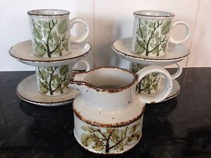 Midwinter Stonehenge Green Leaves Coffee Set 10 Pieces in Pottery Porcelain \u0026 Glass Pottery Midwinter Tableware & Midwinter Stonehenge Green Leaves Coffee Set 10 Pieces in Pottery ...