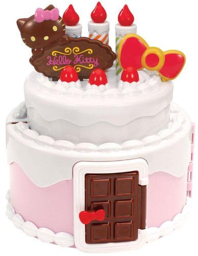 Amazoncom Hello Kitty Sweets world collection birthday cake House