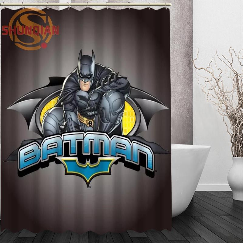 Classic Custom Shower Curtain art cartoon Batman Polyester ...