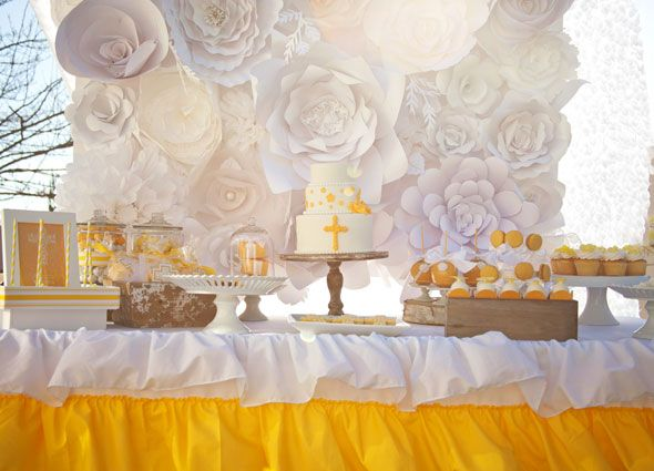 Yellow Themed First Communion Styled Photoshoot First Communion Party First Communion Decorations Communion Party