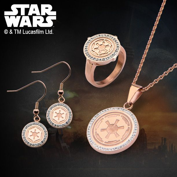 Star Wars Galactic Empire Symbol in Rose Gold IP Stainless Steel