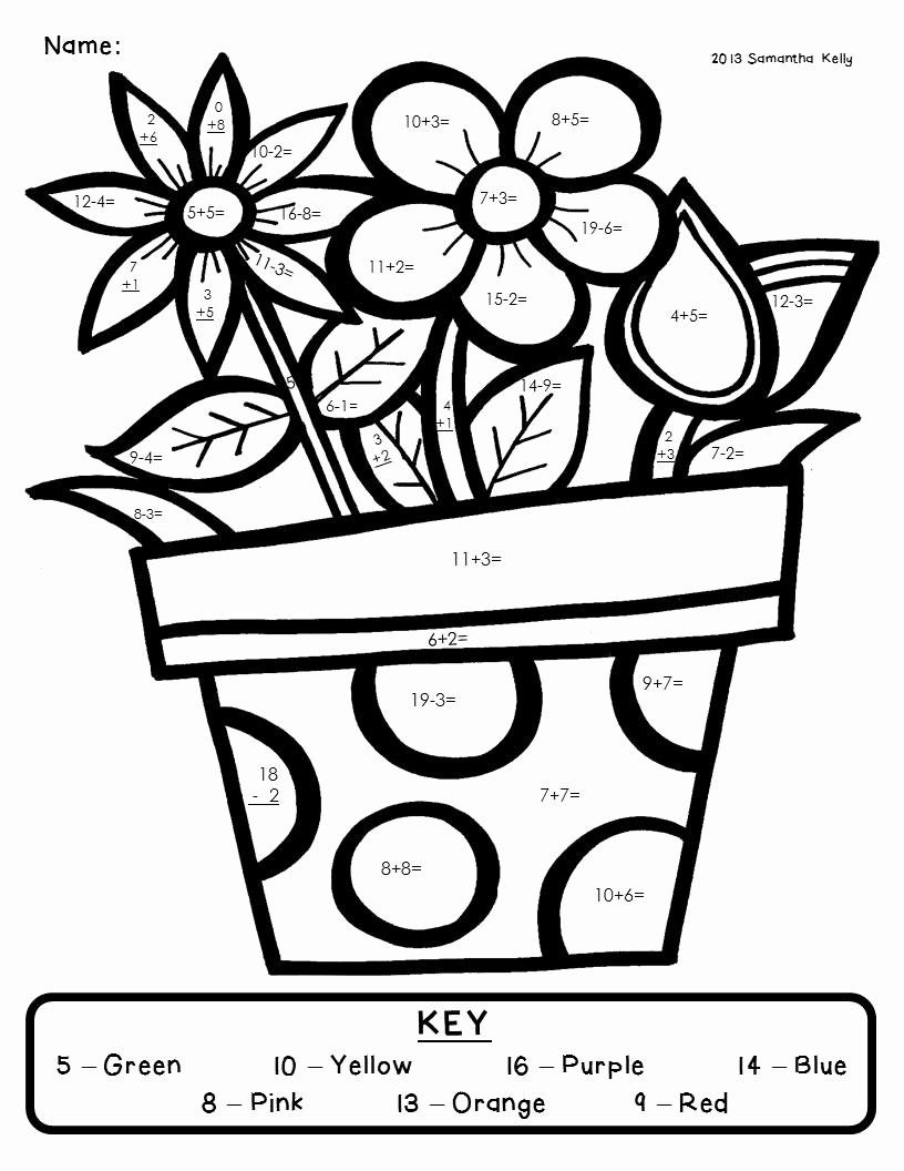 Free Spring Printable Coloring Pages Luxury Coloring Sheet Multiplication Sheets 4th Grade Spring Math Coloring Worksheets Spring Math Worksheets Math Coloring