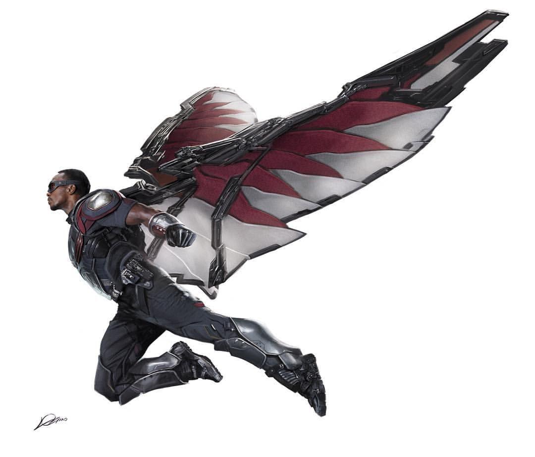 Captain america civil war the falcon by alexander - Faucon avengers ...