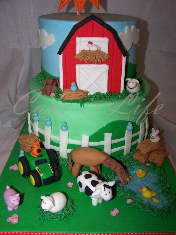 Farm Animal Cakes Farm Theme Birthday Cake Ideas Best Birthday