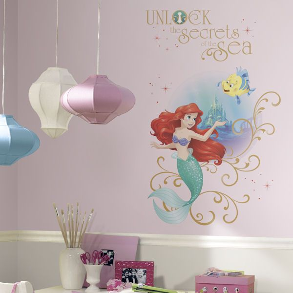 Captivating Disney Little Mermaid Secrets Peel And Stick Decal   Wall Sticker Outlet
