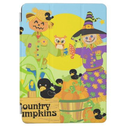 #Country Pumpkins scarecrows 2- iPad Pro Cover - #country gifts style diy gift ideas