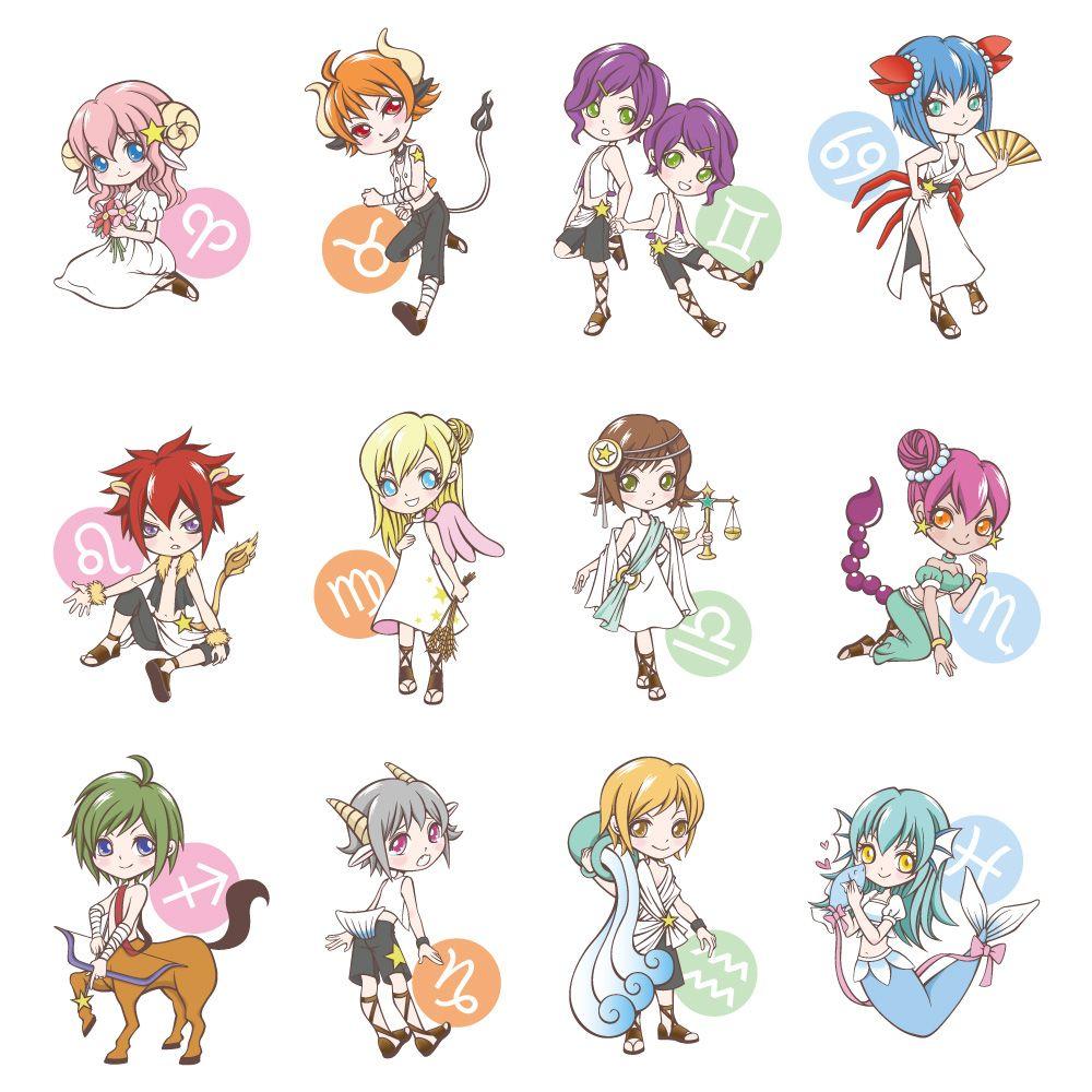 MONEYFUN Horoscop amuzant Zodiaque anime, Chibi