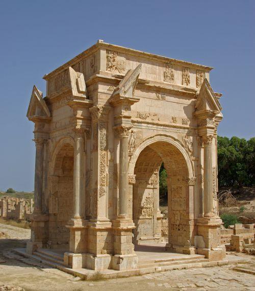 Arch of Septimius Severus in Leptis Magna (emperor's home town)