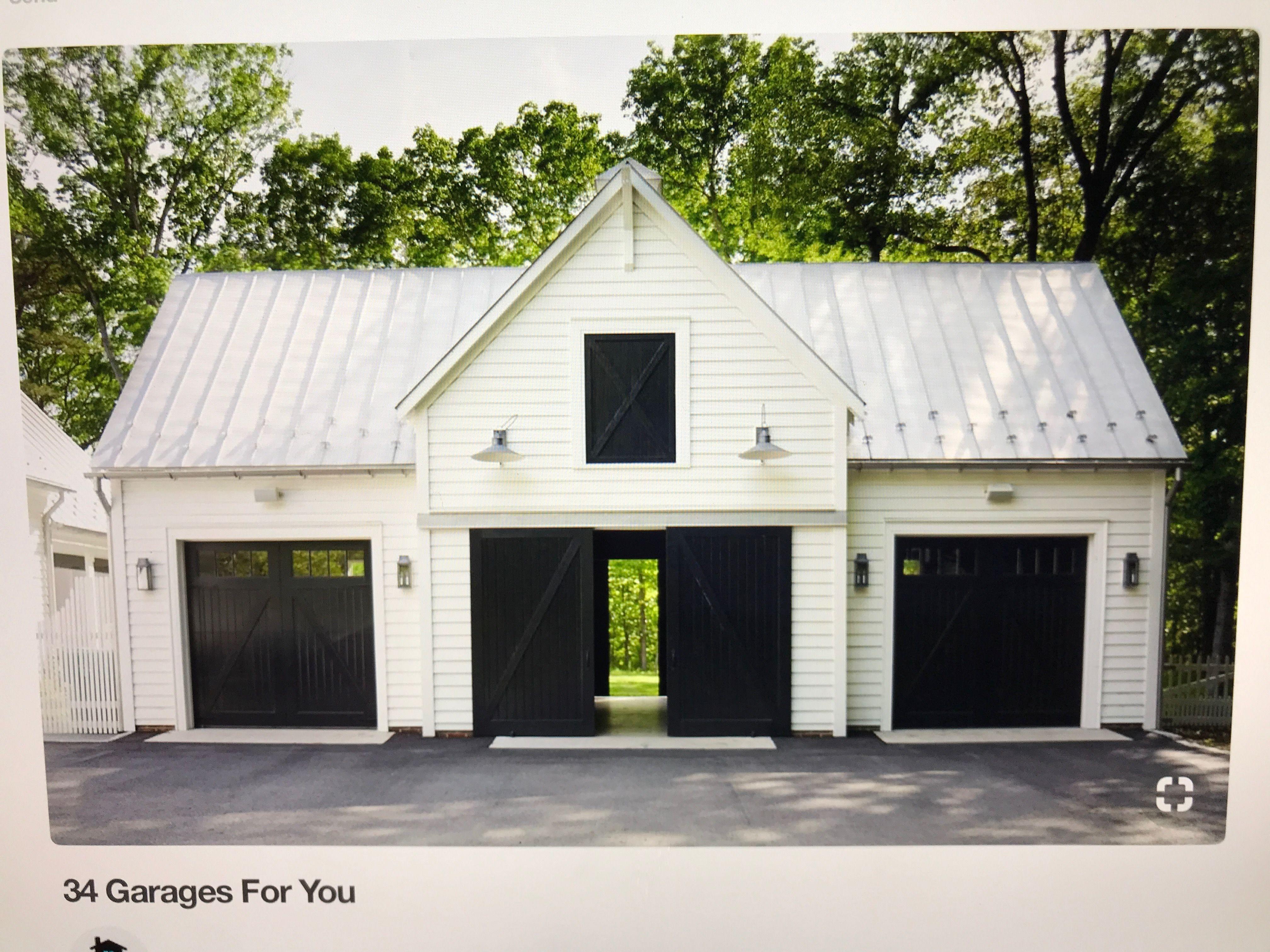 Pin By Trevor Fitzpatrick On Car Ports Farmhouse Garage Garage Exterior Barn Garage